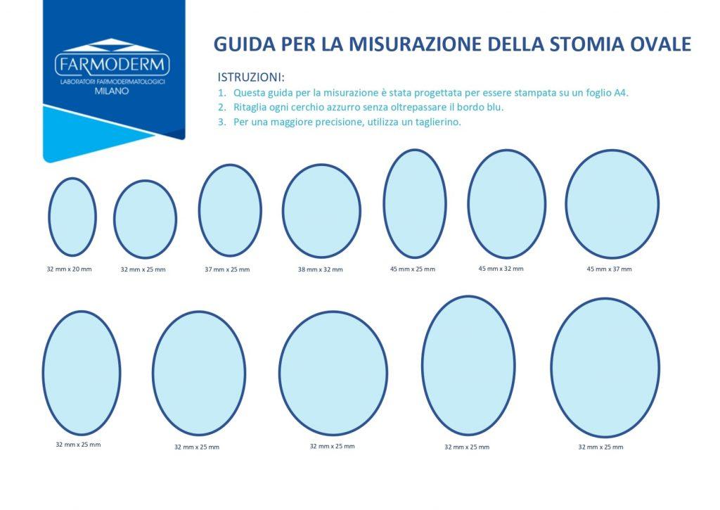Guida per la misurazione della stomia ovale