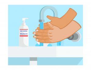 Lavaggio a mano senza bioderma di germi
