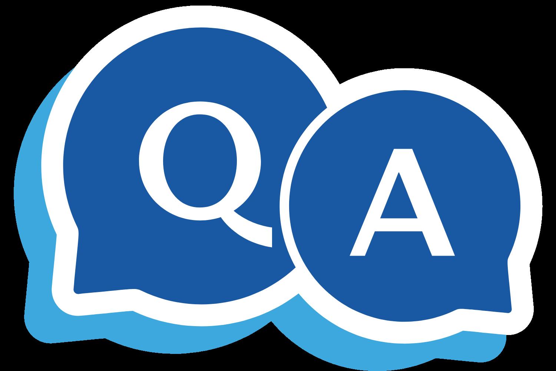 Icona per domanda e risposta