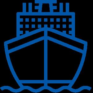 crociera bianca e blu